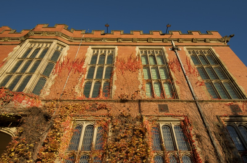 Firth Court, University of Sheffield, Sheffield. Early morning light was good on the brick.