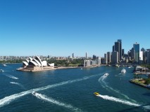 From the bridge in Sydney